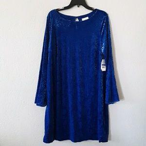 eci New York blue dress